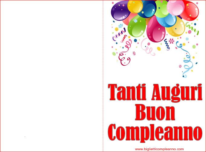 Biglietto Compleanno Biglietto Auguri Compleanno Da Stampare Con