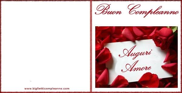 Biglietto Compleanno Auguri Amore