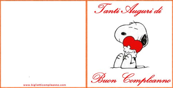 Biglietto Compleanno Biglietto Compleanno Amore Snoopy Con Dolce