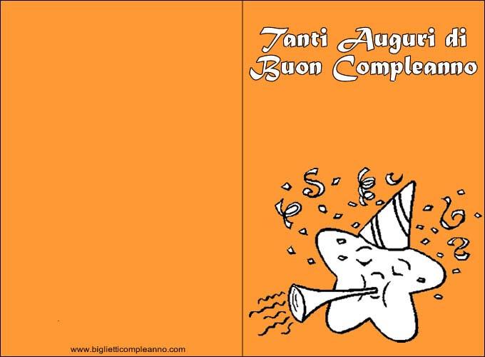 Biglietto compleanno biglietto compleanno stella da - Buon compleanno da colorare immagini da colorare ...