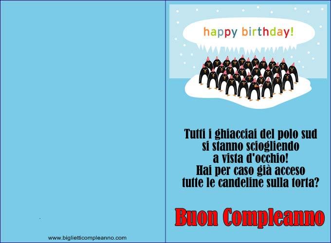 Bien connu Biglietto Compleanno: Biglietti Compleanno Divertenti, con  YI96