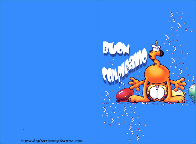Biglietto Compleanno Garfield