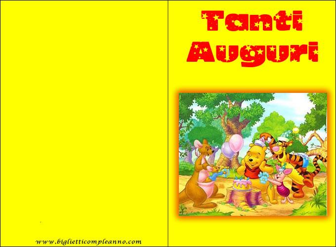 Biglietto Compleanno Pooh