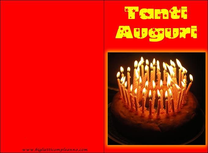 Biglietto Compleanno Candeline