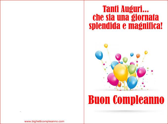 Biglietto Tanti Auguri Compleanno, per un festeggiare un super compleanno