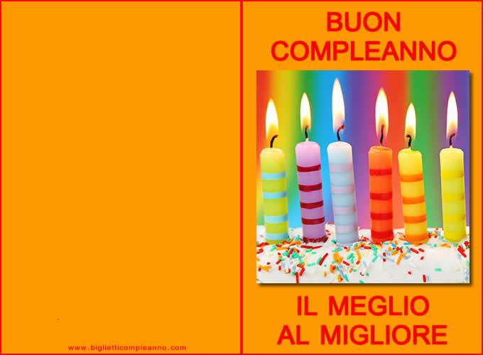 Super Biglietto Compleanno: Biglietto buon compleanno auguri da stampare  FE69