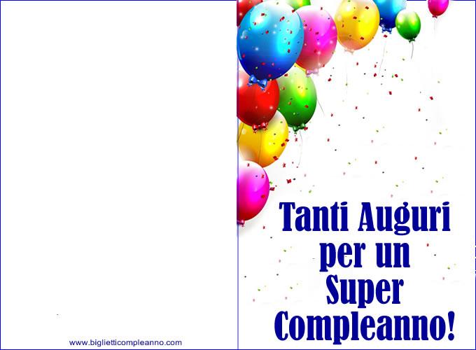 Biglietto Tanti Auguri Compleanno, per un super compleanno